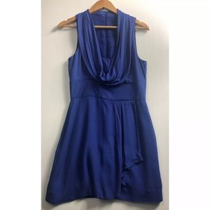 French Connection Blue Ziona Cowl Neck Dress